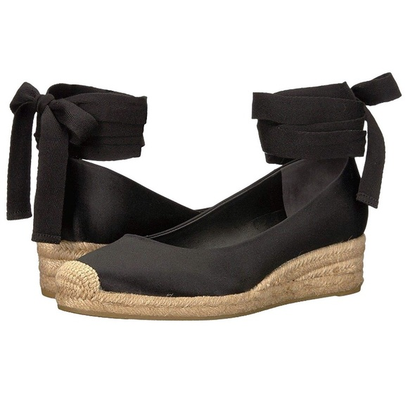 eae148db6c5 NWOT Tory Burch Heather Wedge Espadrille - Black